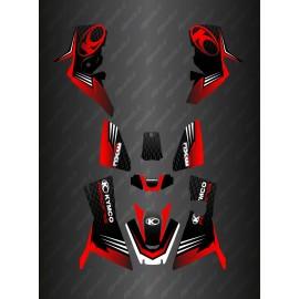 Kit Déco Slant edition Full (Rouge) - Kymco 700 MXU (après 2019)-idgrafix