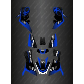 - Deko-Kit Slant edition Full (Blau) - Kymco 700 MXU (nach 2019)-idgrafix