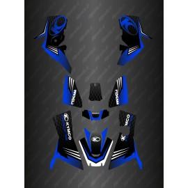Kit Déco Slant edition Full (Bleu) - Kymco 700 MXU (après 2019)-idgrafix