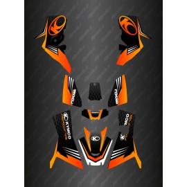 - Deko-Kit Slant edition Full (Orange) - Kymco 700 MXU (nach 2019)-idgrafix