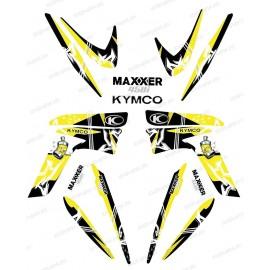 Kit decorazione Street Giallo - IDgrafix - Kymco Maxxer 450