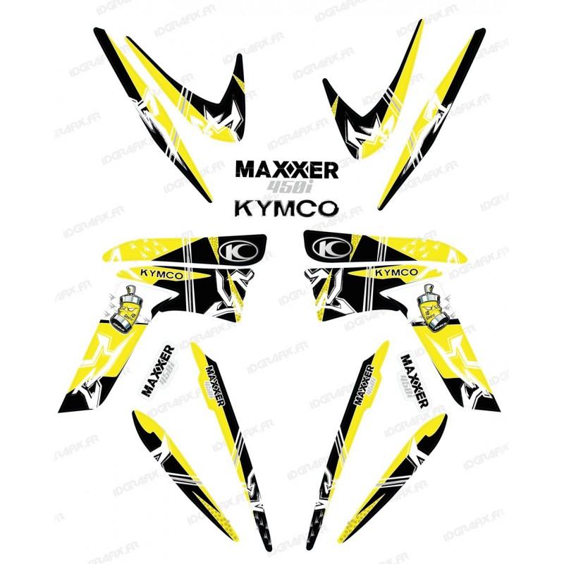 Kit décoration Street Jaune - IDgrafix - Kymco 450 Maxxer - Idgrafix