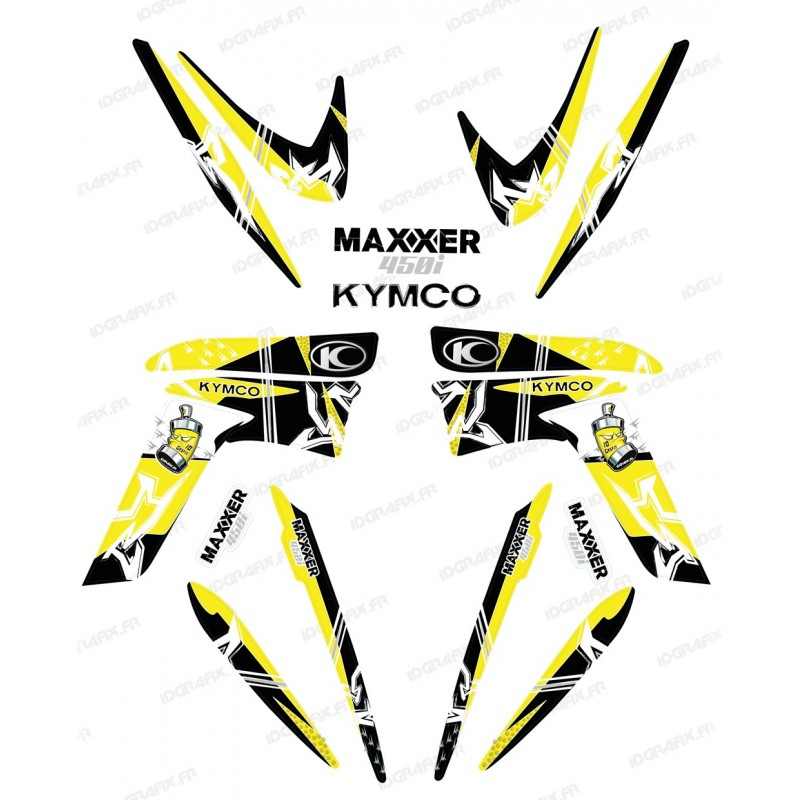 Kit decoration Street Yellow - IDgrafix - Kymco 450 Maxxer-idgrafix