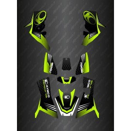 Kit Deco Slant edition Full (Green) - Kymco 700 MXU (after 2019)-idgrafix