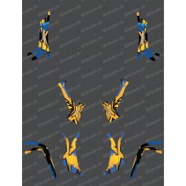 Kit de decoració Llum Fuet (Groc / Blau) - IDgrafix - Am sèrie Outlander