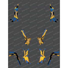 Kit dekor Whip Light (Gelb / Blau) - IDgrafix - Can-Am L-serie Outlander-idgrafix