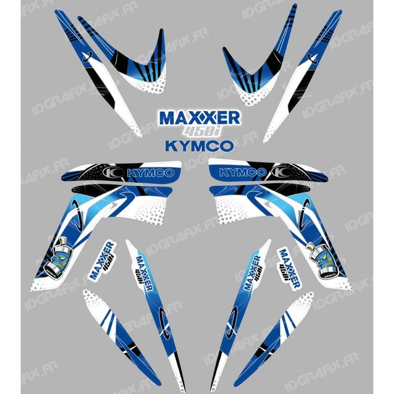 Kit decoration Space Blue - IDgrafix - Kymco 450 Maxxer-idgrafix
