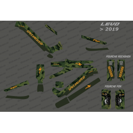 Kit deco Army Edition Full (Green) - Specialized Levo (after 2019)-idgrafix