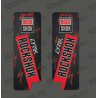Stickers Protection Fourche RockShox LYRIK Carbon (Rouge)