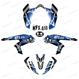 Kit décoration Street Bleu - IDgrafix - Kawasaki KFX 450R