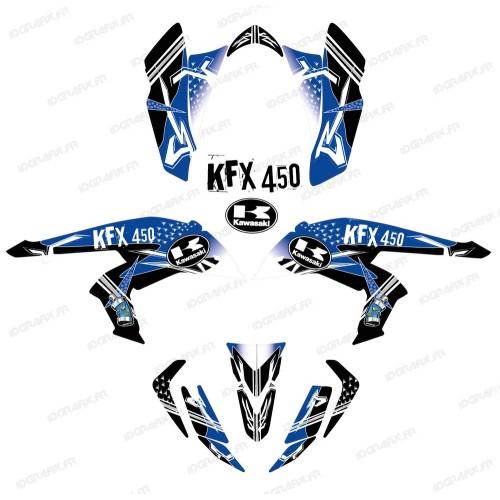 Kit decorazione Street Blu - IDgrafix - Kawasaki KFX 450R -idgrafix