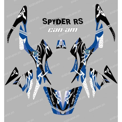 photo du kit décoration - Kit décoration Street Bleu - IDgrafix - Can Am Spyder RS