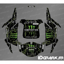 Kit décoration Monster 2018 Edition (green)- IDgrafix - Polaris RZR 1000 Turbo