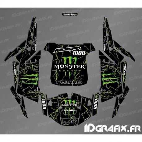 Kit décoration Monster 2018 Edition (green)- IDgrafix - Polaris RZR 1000 Turbo-idgrafix