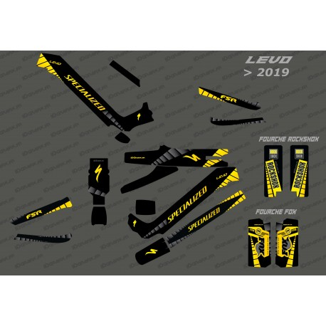 Kit deco GP Edition Full (Yellow) - Specialized Levo (after 2019)-idgrafix