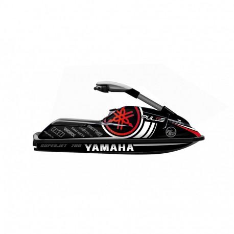 Kit Decoration Pulse Red for YAMAHA SUPERJET 700-idgrafix