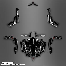 Kit décoration Black/White Edition - Idgrafix - CF Moto ZForce-idgrafix