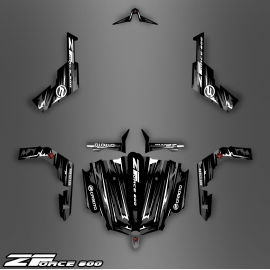 Kit de decoració Black/White Edition - Idgrafix - CF Moto ZForce