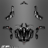 Kit décoration Black/White Edition - Idgrafix - CF Moto ZForce