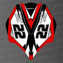 Kit de decoración de la Cubierta de la AV Rojo LTD para Kawasaki Ultra 250/260/300/310R -idgrafix