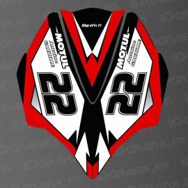 Kit decorazione di Copertura AV Rosso LTD per Kawasaki Ultra 250/260/300/310R -idgrafix