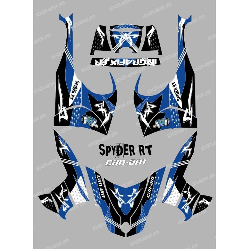 Kit décoration Street Bleu - IDgrafix - Can Am Spyder RT