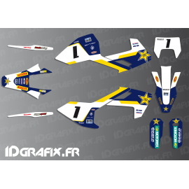 Kit deco Graham Jarvis Réplica (Azul) - Husqvarna TC - TE -FC -idgrafix
