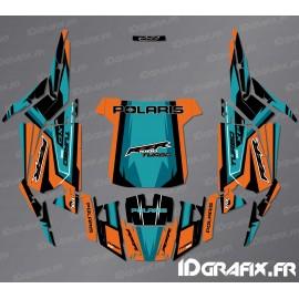 Kit décoration Straight Edition (Orange/Turquoise)- IDgrafix - Polaris RZR 1000 Turbo