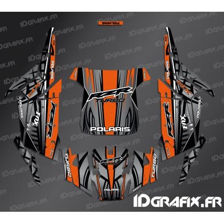 Kit de decoració Recta Edició (Blau)- IDgrafix - Polaris RZR 1000 Turbo -idgrafix
