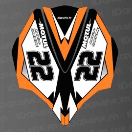Kit décoration Capot AV Orange LTD pour Kawasaki Ultra 250/260/300/310R-idgrafix