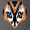 Kit décoration Capot AV Orange LTD pour Kawasaki Ultra 250/260/300/310R