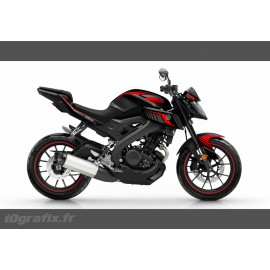 Kit decoration Racing Red - IDgrafix - Yamaha MT-125 - IDgrafix