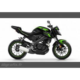 Kit décoration Racing Vert Fluo - IDgrafix - Yamaha MT-125-idgrafix