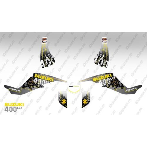 Kit decorazione Racing Alimentazione Giallo - IDgrafix - Suzuki LTZ 400 -idgrafix