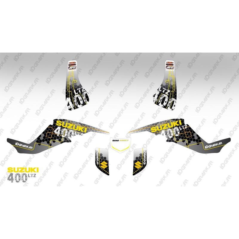 Kit de decoración de Carreras de Poder Amarillo - IDgrafix - Suzuki LTZ 400 -idgrafix
