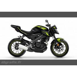 Kit décoration Racing Jaune Fluo - IDgrafix - Yamaha MT-125-idgrafix