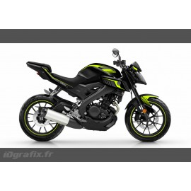 Kit decoration Racing Yellow Fluo - IDgrafix - Yamaha MT-125 - IDgrafix
