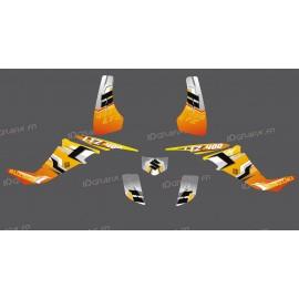 Kit de decoración de Recoge - Amarillo IDgrafix - Suzuki LTZ 400