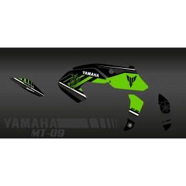 Kit décoration Monster Edition (Green) - IDgrafix - Yamaha MT-09 (after 2017)