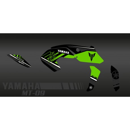 Kit décoration Monster Edition (Green) - IDgrafix - Yamaha MT-09 (after 2017)-idgrafix