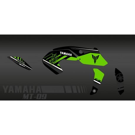 Kit de décoration Monstre Edició (Verd) - IDgrafix - Yamaha MT-09 (després de 2017) -idgrafix