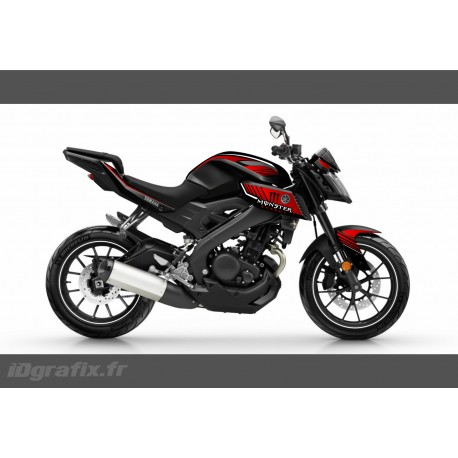 Kit décoration Monster Edition (Red)- IDgrafix - Yamaha MT-125 - IDgrafix