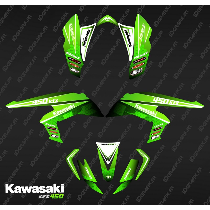 Kit decoration Racing Green Power - IDgrafix - Kawasaki KFX 450R-idgrafix
