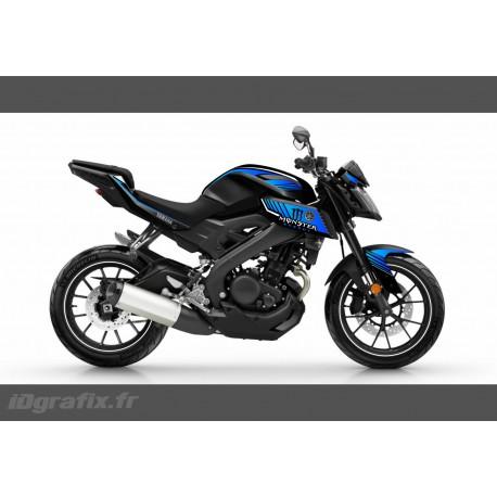Kit décoration Monster Edition (Blue)- IDgrafix - Yamaha MT-125-idgrafix
