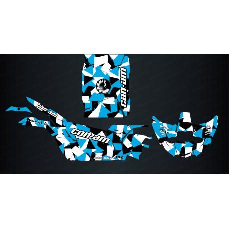 Kit de decoració de la Plaça de l'Edició (Negre/Blau) - Idgrafix - Can Am Maverick X3 -idgrafix