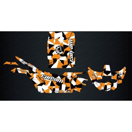 Kit dekor Square Edition (Schwarz/Orange) - Idgrafix - Can Am Maverick X3-idgrafix