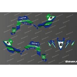 Kit dekor 60eme Yamaha Full (Blau/Grün) - IDgrafix - Yamaha YFZ 450 / YFZ 450R