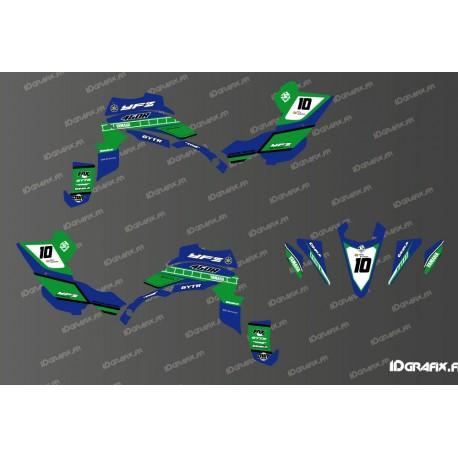 Kit decoration 60th Yamaha Full (Blue/Green) - IDgrafix - Yamaha YFZ 450 / YFZ 450R-idgrafix