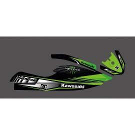 Kit déco personnalisé Monster Edition (vert) pour Kawasaki SXR 800-idgrafix
