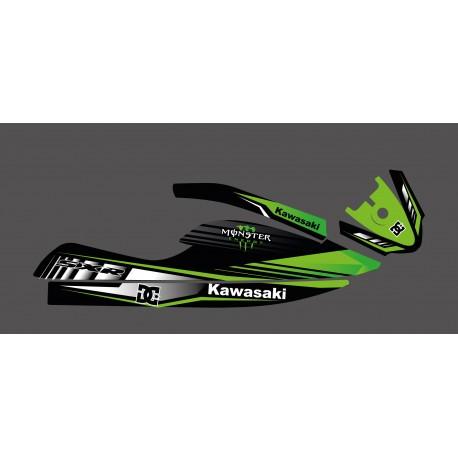 Kit deco custom Monster Edition (green) for Kawasaki SXR 800-idgrafix